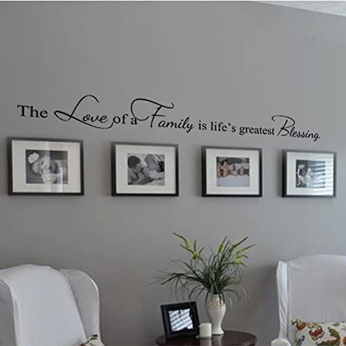 Amazon Com Family Decoration Wall Decal Couple Wall Stickers Living Room Wall Quotes The Love Of A Family Is Life S Greatest Blessing Imedium Black Home Kitchen