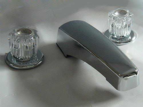 StoneCrest Non-Metallic Tub Filler with Flex Hoses, Chrome Finish
