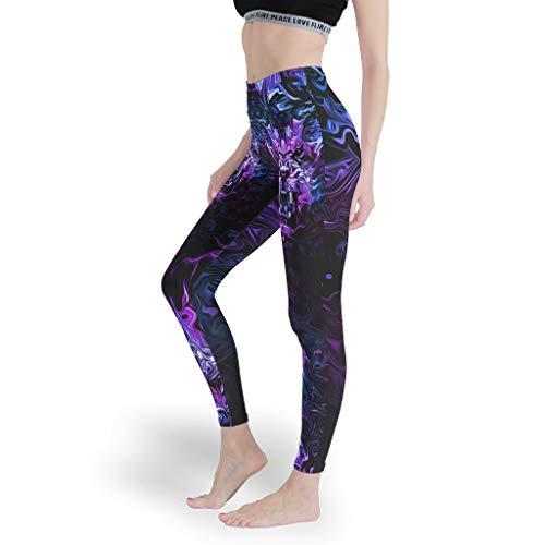 Toomjie Yoga Broek voor Vrouwen Naadloze Yoga Leggings Leeuw Tijger Luipaard Gedrukt Actieve Workout Capris