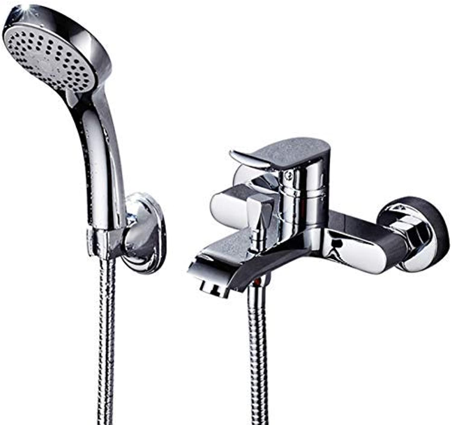 JINSH HOME Showers Full Copper Bathtub Faucet Shower With Double Outlet With Hand Shower