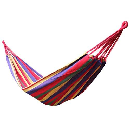 multifonctionnel Camping Hamac à suspendre Lit Taille simple [2*0.8 m] coloré