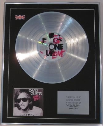 David guetta- Ltd Edt CD Platinum Disc – One Love