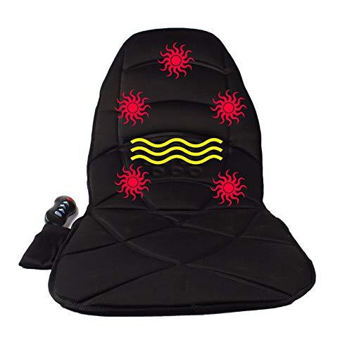 2 in 1 Zurück Massager beheiztes Autokissen mit 5 Stufen der Heizung und Taillenmassage Funktion, Atemschutz Massage Stuhl Cover für Auto-Home Office Stuhl