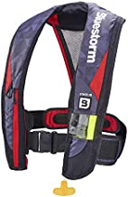 Bluestorm Gear Atmos 40 Inflatable PFD Life Jacket (Nitro Red) | | US Coast Guard Approved Automatic/Manual Life Vest for Adults