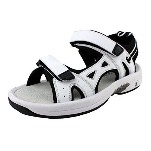 Oregon Mudders Womens WCS500 Golf Sandal with Turf Nipple Sole 8M US Womens White
