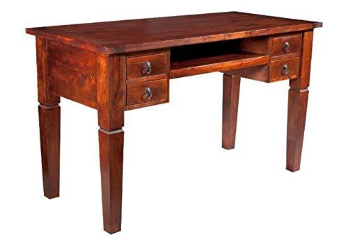 MASSIVMOEBEL24.DE Kolonial Schreibtisch Akazie massiv Möbel Oxford #506
