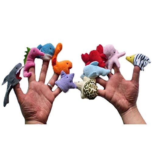 10 Unids/Set Marionetas de Dedo Lindo Muñeco de Animal de Mar Juguete de Peluche Mano Educativa Marionetas de Dedo Juguetes Niños Niñas Bebés Bolsa de Fiesta Llenadora