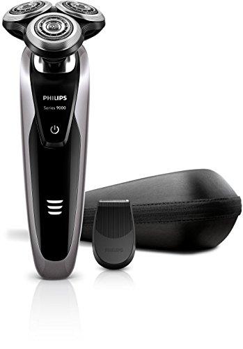 Philips SHAVER Series 9000 S9111/12 - Afeitadora (Negro, Gris, AC/Batería, Ión de litio, 1 h, 3 min, 0,1 W)