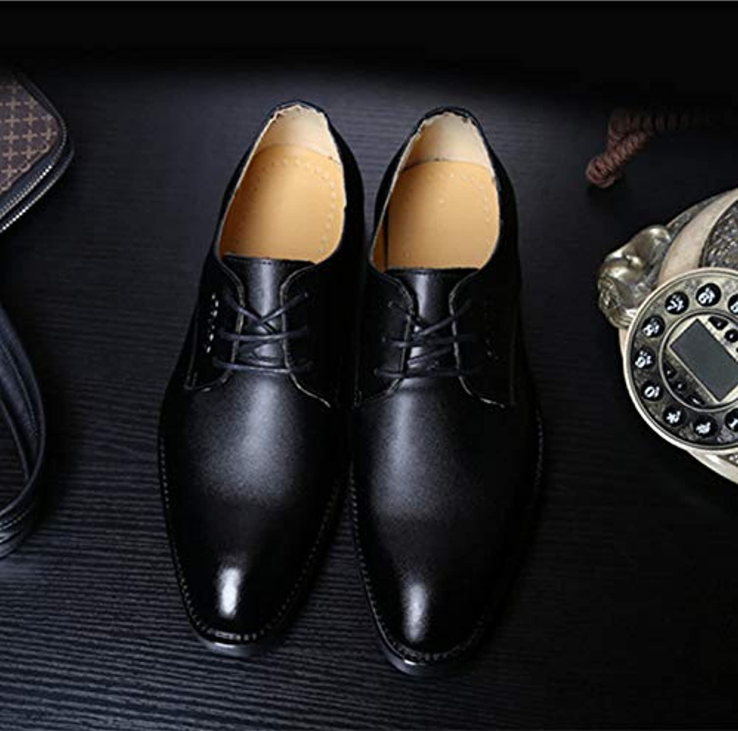 LOVDRAM Men'S Leather shoes Spring New Leather Men'S shoes Taobao Men'S Casual shoes Fashion Pointed Men'S shoes
