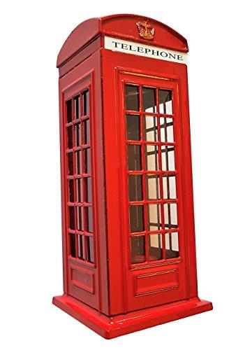 London Telefonzelle Spardose - Rotes Druckgussmetall / Britische Andenken aus England UK