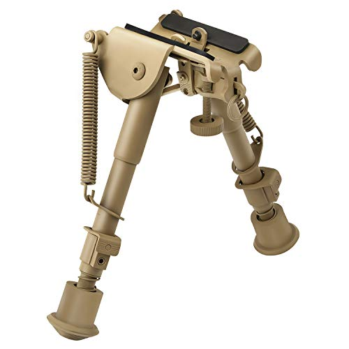 CVLIFE 6-9 Inches Rifle Bipod Picatinny Bipod, Flat Dark Earth Bipod