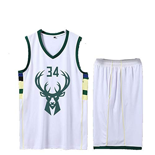 SUXT Giannis Antetokounmpo # 34 Milwaukee Bucks Basketball-Trikots M-XXXL, Basketball-Sweatshirt