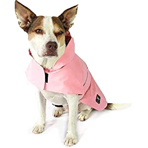 Pink Dog Raincoat XS-L, Apparel for Dogs by Nicole Miller, Floral Pet Raincoat American Cat Club