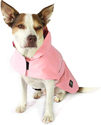 American Cat Club Pink Floral Dog Raincoat for Dogs Pet Apparel by Nicole Miller, Large