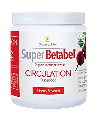 Organica Life Super Betabel Circulation Superfood For healthy Blood Pressure | Beet Powder Nitric Oxide Boosting Supplement - 7.05 Oz, Black Cherry Flavor