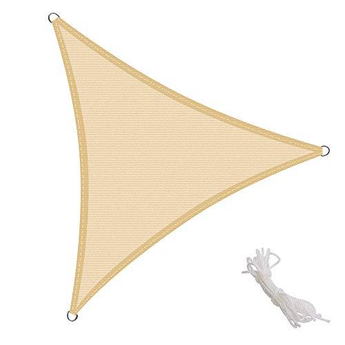 KingShade Triangolare HDPE Vela Parasole, Resistente agli Agenti Atmosferici, Protezione Raggi UV per Giardino, Balcone e Terrazza
