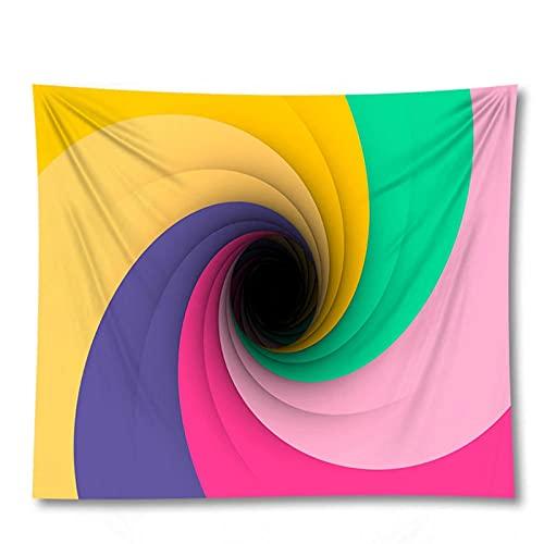 Tapiz by BD-Boombdl Colorido vórtice decorativo pared arte fondo tela para colgar estera de playa colcha decoración del dormitorio del hogar 59.05'x39.37'Inch(150x100 Cm)