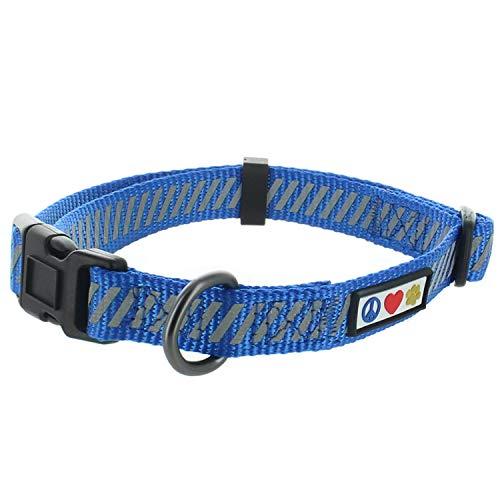 Pawtitas Traffico Collare per Cuccioli Collare per Animali Collare Riflettente per Addestramento Piccolo Collare per Cani Blu Collare per Cani