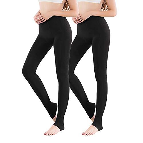 Vertvie Thermo Panty voor dames, 1/3/5 stuks, met binnenfleece voor herfst en winter, warm, ondoorzichtig
