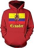 NOFO Clothing Co Flag of Ecuador, Ecuadorian Flag, Orgullo Hooded Sweatshirt, S Red