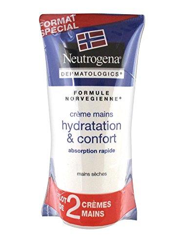 Neutrogena Crème Mains Hydratation et Confort Lot de 2 x 75 ml