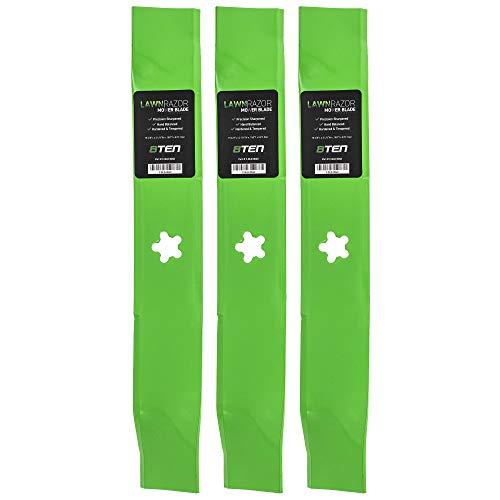 8TEN LawnRAZOR Blade 46 Inch Deck for Husqvarna YTH 180 1746 2046 159705 176084 532176084 532159705 Hi Lift 3 Pack