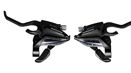 ENBO Shifter ST-EF500 3x7 Speed Bike Shift/Brake Lever Set 21 Speed with Stainless Inner Shift Cables, not Include Shift Cable Housing