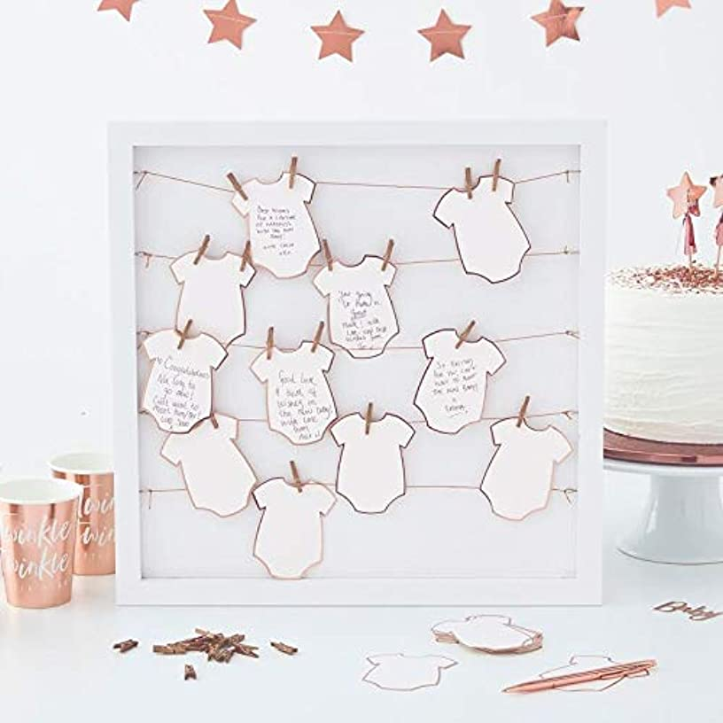Ginger Ray Baby Shower Baby Shower Ideas Frame Peg and String Event Guest Book Twinkle Twinkle 15.75