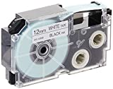 Casio XR-12WE1 EZ-Label Printer  Schriftband selbsthaftend, 12 mm x 8,0 m, schwarz