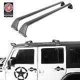 Crossbars Roof Racks Luggage Racks Replacement for 2007-2021 Jeep Wrangler JK JL & Gladiator JT (4 Door)