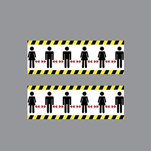 GreenIT 2 Aufkleber 20cm Sticker Piktogramm Bitte Personen Abstand zueinander halten 4061963052853
