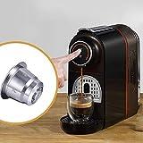 NANSHAN✅ HOMEKITCHEN ++ Reutilizable de Acero Inoxidable cápsulas de café con Relleno múltiple Filtros de café De Hora de cocinar (Color : Silver)