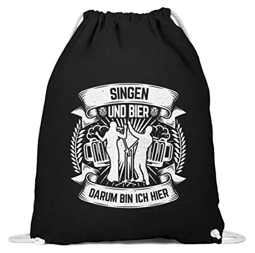 Chorchester Für Singen und Bier Fans - Baumwoll Gymsac -37cm-46cm-Schwarz