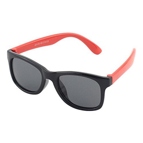 CGID Gummi Flexible Kinder Polarisierte Sonnenbrillen für Baby und Kinder im Alter von 3-6, K25