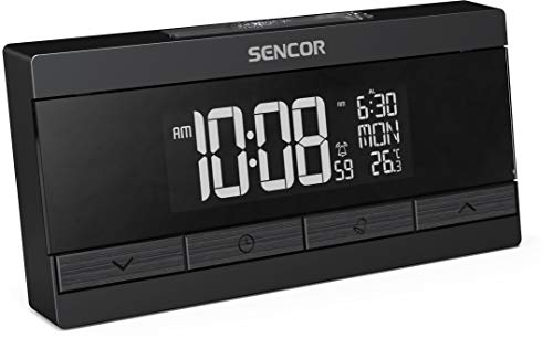 SENCOR SDC 7200 digitale wekker, 0,8-12 watt, twee USB-laadpoorten, display met 256 kleuren