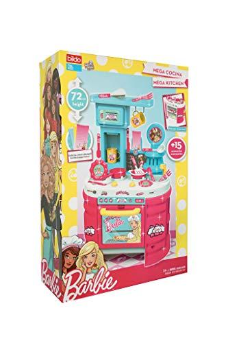 Barbie Mega Cocina 72 cm Alto con +15 Accesorios y Doble Lado