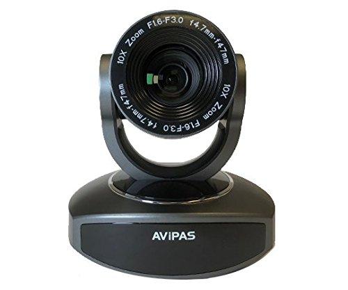 AViPAS AV-1081G 10x HDMI PTZ Camera with IP Live Streaming - Dark Grey