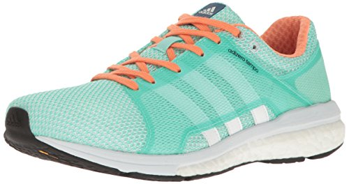 adidas Women's Adizero Tempo w Running Shoe, Easy Green/White/Clear/Grey, 10 M US
