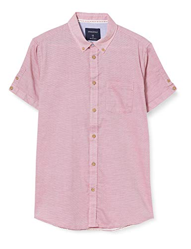 Springfield Structure Short Franq-C/61 Camisa Casual, Rojo (Red 61), M (Tamaño del Fabricante: M) para Hombre