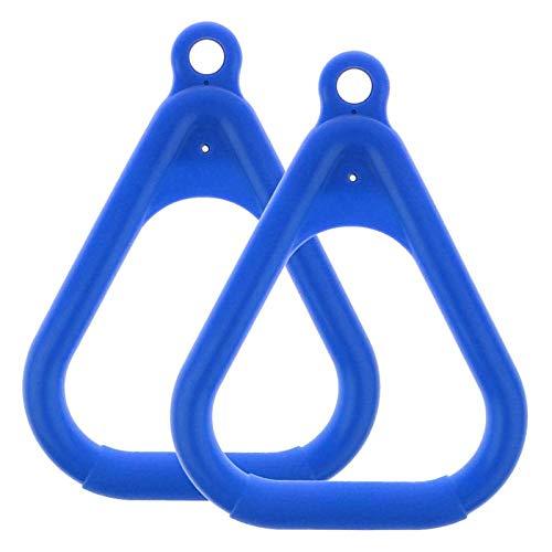 Moligh doll 2 Teiliges Schaukel Set Ersatzring Trapez Griff Teile Schaukel Aufh?Ngung Ring für Kinder Kletter GerüSt Zubeh?R Blau