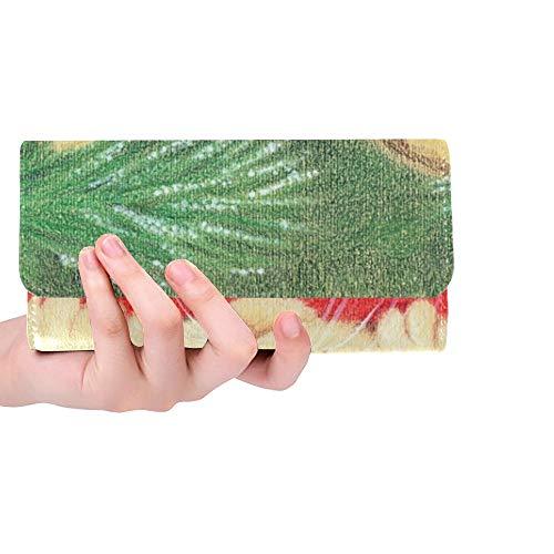 Einzigartige benutzerdefinierte Erwartung Urlaub Handzeichnung Bleistifte Frauen Trifold Wallet Lange Geldbörse Kreditkarteninhaber Fall Handtasche