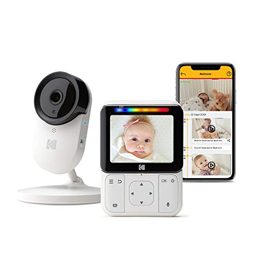 KODAK Cherish C220 Video Baby Monitor — 2.8' HD Screen & Mobile App, Hi-res Camera, Remote Zoom,...