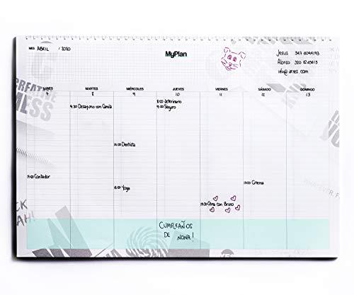 Agenda Planificador Semanal A3 43x30 - Organizador de Tareas y Citas - Planner de Mesa con Hojas Arrancables