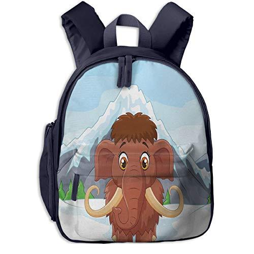 Kinderrucksack Mammut EIS Snowy Mountain Winter Babyrucksack Süßer Schultasche für Kinder 2-5 Jahre