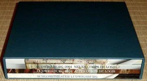 LUDWIGSBURG 2004 - 4 Bände im Schuber: 1. NEUES CORPS DE LOGIS - Keramikmuseum Appartement Carl Eugen + 2. FESTINBAU - Modemuseum + 3. ALTES CORPS DE LOGIS - Barockgalerie – Fassaden und Dächer, Gärten + 4. SCHLOSSTHEATER LUDWIGSBURG - Zum Abschluß der Restaurierung 1998