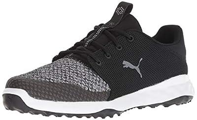Puma Golf Men's Grip Fusion Sport Golf Shoe, puma Black-Quiet Shade, 10.5 M US