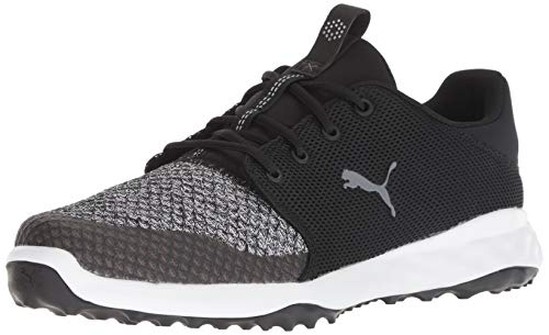 Puma Golf Men's Grip Fusion Sport Golf Shoe, Puma Black-Quiet Shade, 10.5 M...