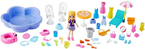 Festa Na Piscina, Polly Pocket, Mattel, Multicolorido Mattel Multicolorido