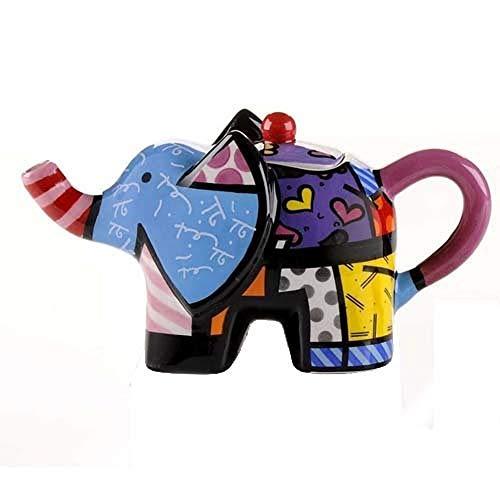 Romero Britto Giftcraft Mini Teekanne Elefant, 15 x 7,5 cm