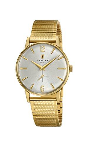 Festina Herren Analog Quarz Uhr mit Edelstahl Armband F20251/2